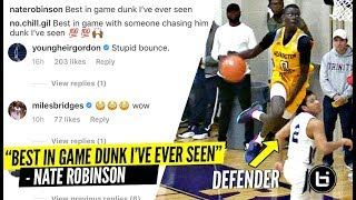 """Best In Game Dunk I've EVER SEEN"" High School Player's INSANE Dunk Has NBA Players WILDIN'"