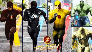 Team Flash VS. Team Hulk (GTA 5 Ultimate Flash Mod)