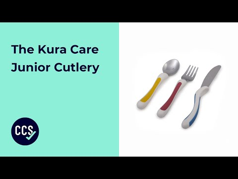 Kura Care Junior Cutlery Being Used