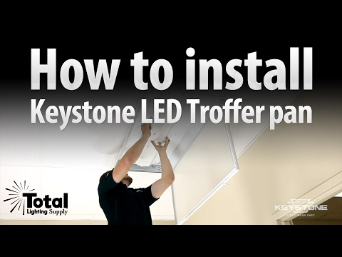 How to install the Keystone LED retrofit Troffer pan!