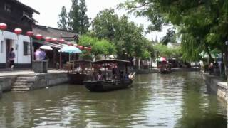 Video : China : Boat ride through ZhuJiaJiao 朱家角