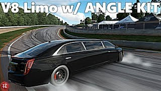 Forza Motorsport 7: CADILLAC LIMO w/ DRIFT SUSPENSION and NASCAR V8!! FULL BUILD and Tune