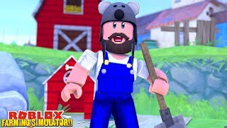 Farming Simulator On Roblox Our New Jobs On The Roblox Farm Roblox Farming Simulator Minecraftvideos Tv