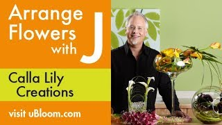 How to design with Callas and Creating a Calla Lily Centerpiece!