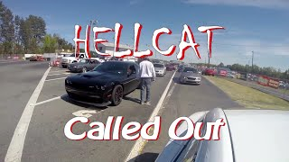 Ludicrous Tesla takes down multiple Hellcat Challengers Drag Racing!