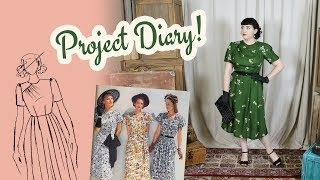 Making A 1940s Style Rayon Dress - Summer Sewing 2019