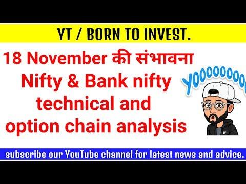 18 November Nifty And Bank Nifty Technical Analysis And Option chain Analysis In Hindi