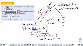 Eğitim Vadisi AYT Matematik 18.Föy Türev 1 Konu Anlatım Videoları
