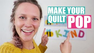 How To Make Your Quilt POP   Bee Happy Mini Quilt (2/2)