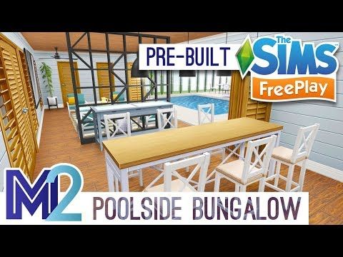 Sims FreePlay - Poolside Bungalow Template (Early Access)