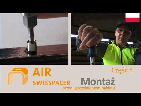 SWISSPACER AIR - Montaż przed uszczelnieniem pakietu