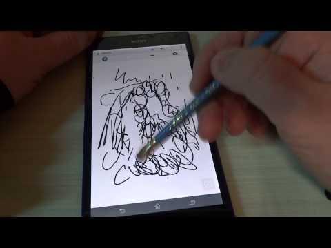 Foto Sony Xperia Z Ultra: Test display con penne e matite