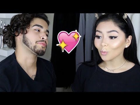 Boyfriend Does My Makeup Challenge | Daisy Marquez