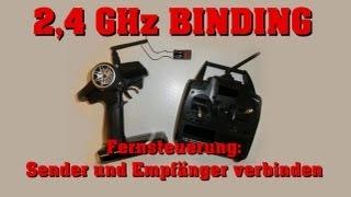 Binding 2,4 GHz Fernsteuerung - Anleitung / Tutorial - Sender und Empfänger verbinden - Darconizer