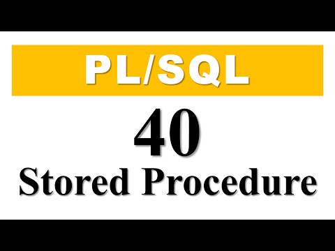 PL/SQL tutorial 40 : Introduction to PL/SQL Stored Procedure in Oracle Database By Manish Sharma