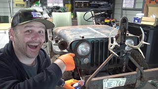 Willys Jeep Rescue...starter problems!! 30 years of grime!