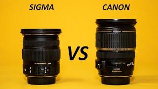 CANON 17-55 vs SIGMA 17-50 | f2.8 lens comparison