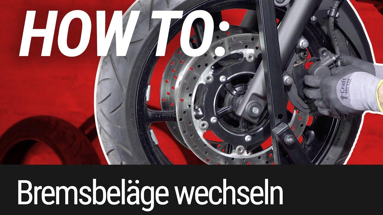 HOW TO: Bremsbeläge wechseln am Motorrad