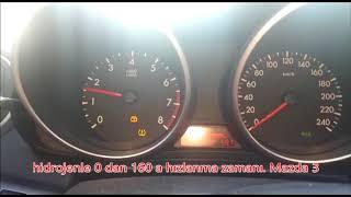 Mazda 3 hidrojen yakıt sistemi ile güç artış testi