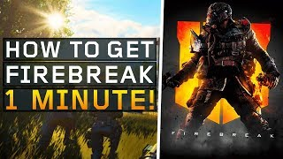 How to Unlock Firebreak in 1 minute! (Black Ops 4: Blackout)