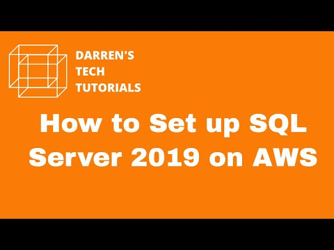 How to Set up SQL Server 2019 on AWS
