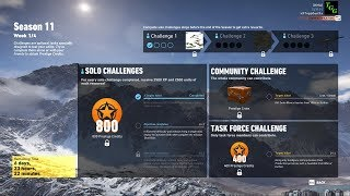 Season 11 Week 1 Solo Challenge 1 - Ghost Recon Wildlands