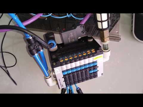 Controle da mesa X Y Z, via terminal válvula CPV FESTO PROFIBUS DP.