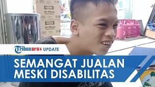 Pemuda Disabilitas di Pangandaran Tetap Berjualan Hingga Pagi, Mengaku Tak Mau Repotkan Orangtua