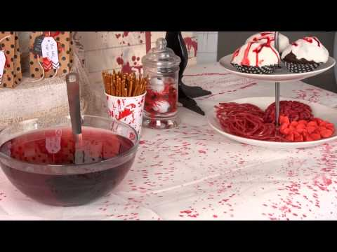 Bloederige crime scene Halloween decoratie ideeën
