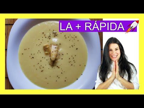 Crema de ESPÁRRAGOS BLANCOS DE LATA - ¡¡Solo 3 INGREDIENTES!! 😋😋  - Fácil y rápida