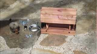 Hanging Bird Feeder With Pulley System
