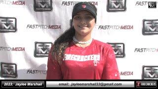 2023 Jaylee Marshall 4.0 GPA, Athletic Catcher & Shortstop Softball Skills Video Firecrackers Leles