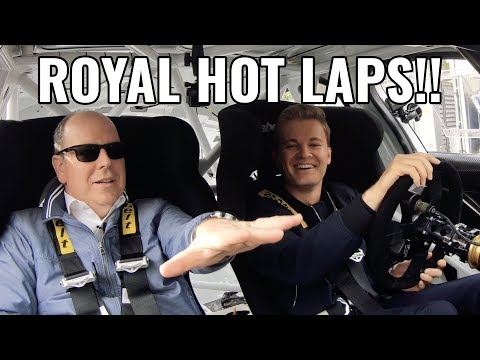 MONACO GP TRACK HOT LAPS WITH PRINCE ALBERT! | NICO ROSBERG | eVLOG