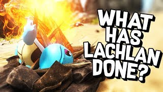 ARK Survival Evolved - I CAN'T BELIEVE WHAT LACHLAN DID! - ARK Pokemon #2