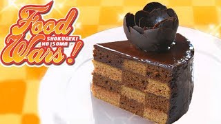 How To Make the Chocolate Covered Checkerboard Cake from Food Wars! Shokugeki No Soma