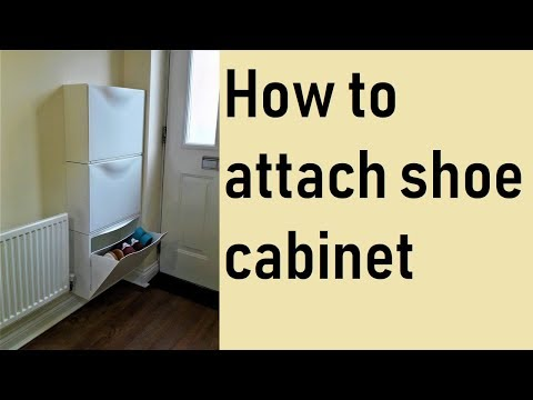 How to attach Ikea shoe cabinet