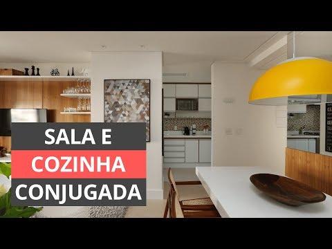 Sala e cozinha conjugada