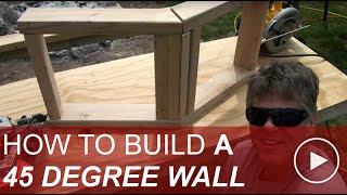 How to Frame a 45 Degree Angle Wall