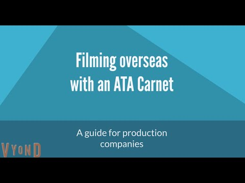 ATA Carnets for film and  television production crew