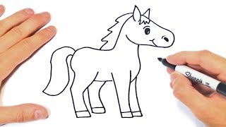 How To Draw A Horse Step By Step | Horse Drawing Lesson