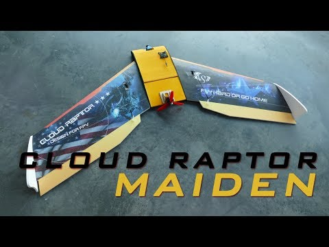 Cloud Raptor 1000mm EPP [FPV] WING - Maiden