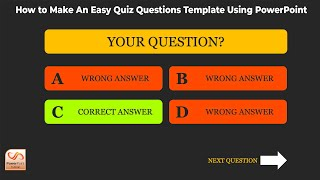 How to Make An Easy Quiz Questions Template Using PowerPoint