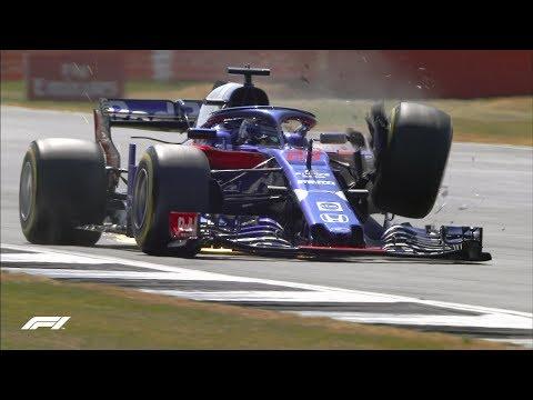 Brendon Hartley's Huge FP3 Impact | 2018 British Grand Prix