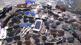 River Treasure: 2 GoPro's, iPhone, 7 Ray-Bans, Gucci and MOAR! | Aquachigger