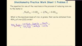 AP Chemistry Stoichiometry Worksheet 1 Problem 2
