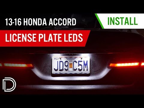 Download How to Install 2013-2016 Honda Accord License Plate LEDs   Diode Dynamics Mp4 HD Video and MP3