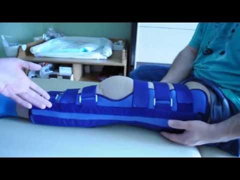Массаж при травме коленного сустава.