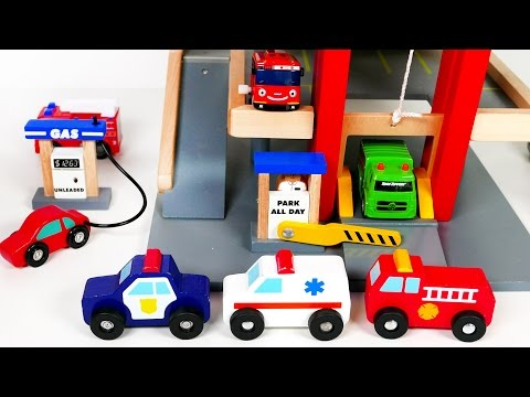 Parking Deck Garage Playset with Gas Pump and a Car Wash! Many Car Toy Vehicles For Kids