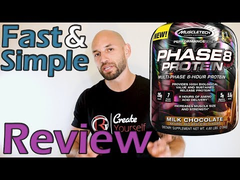 2018 Phase 8 Protein Supplement Review (Muscletech)
