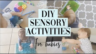 DIY Baby Sensory Ideas 6-12 Months | Messy And Clean Options